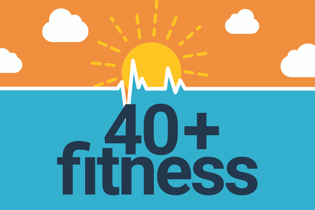 40+ Fitness Podcast Logo